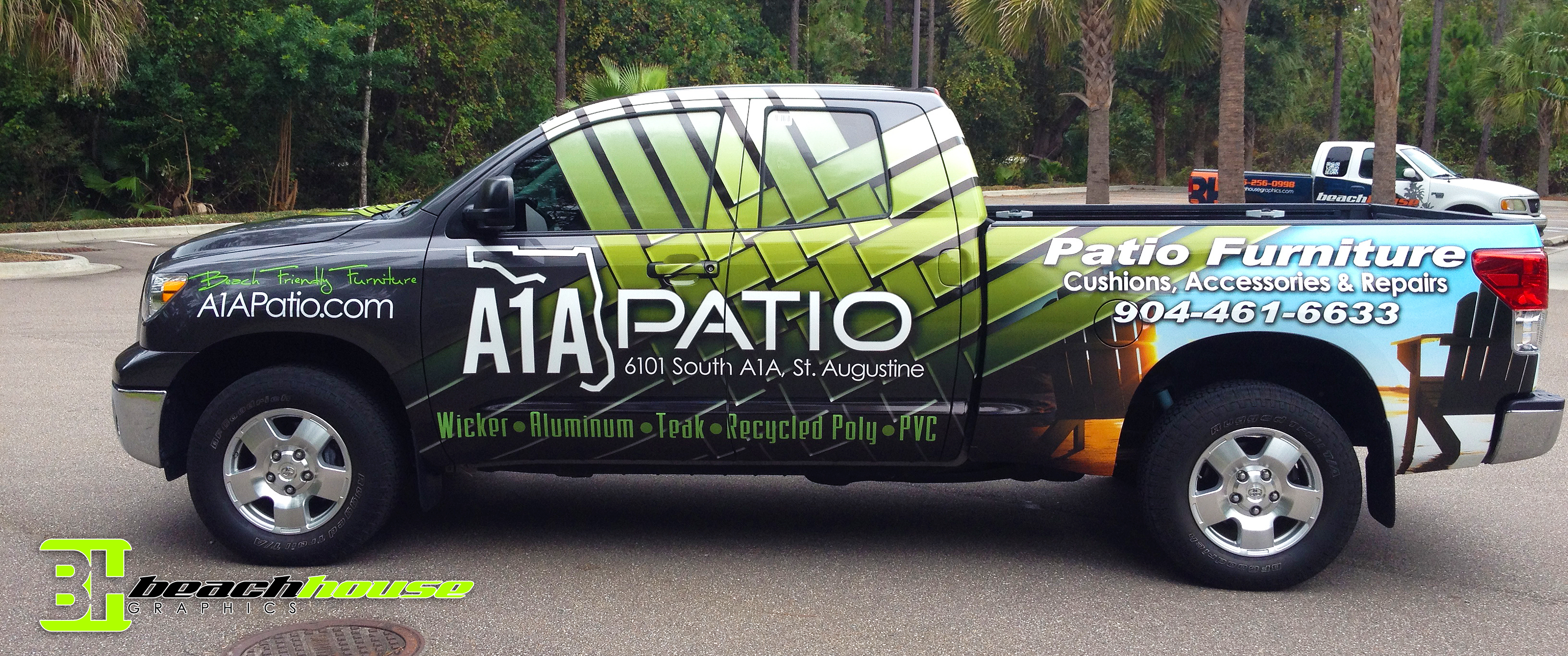A1a Patio Latest Truck Wrap Custom Vehicle Wraps