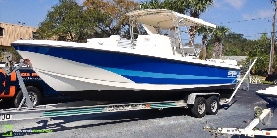 Boat Wrap Daytona Beach Floirida