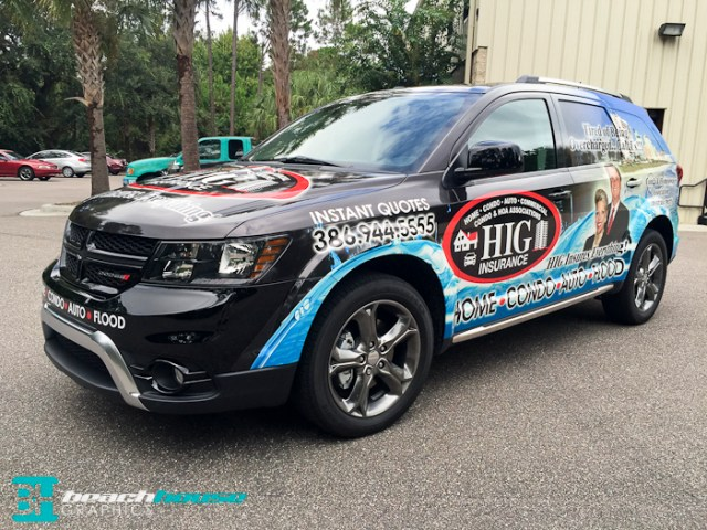 Dodge Journey Partial Wrap in Daytona Beach Florida
