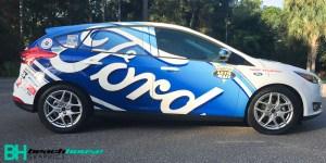 Race car inspired ford focus custom wrap