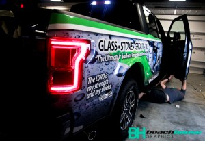 Ford F-150 Truck Wrap being completed in Ormond Beach
