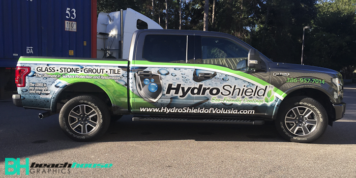 Partial Custom Truck Wrap in Daytona Beach