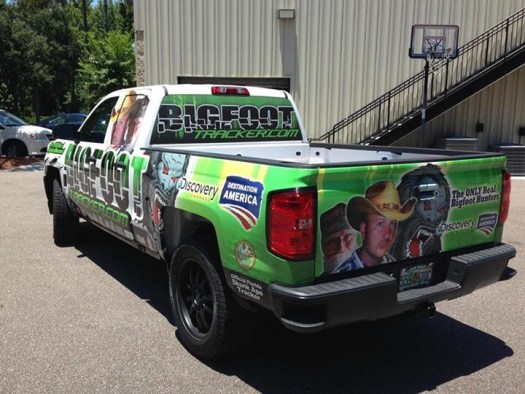 partial ford wrap history chanel truck wrap and vehicle graphics in Ormond beach florida