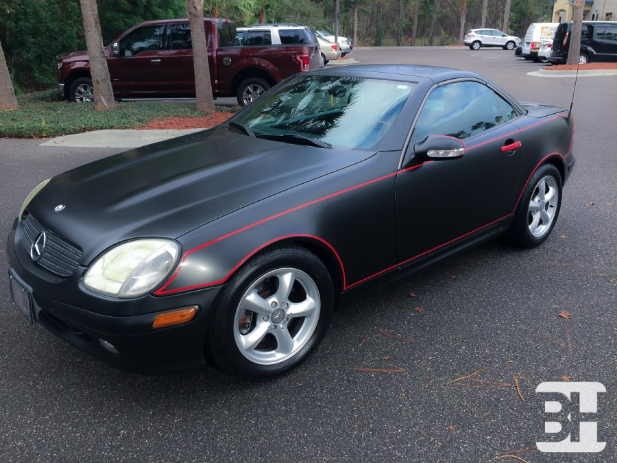 Mercedes Vehicle Wrap - Red to Black Color Change