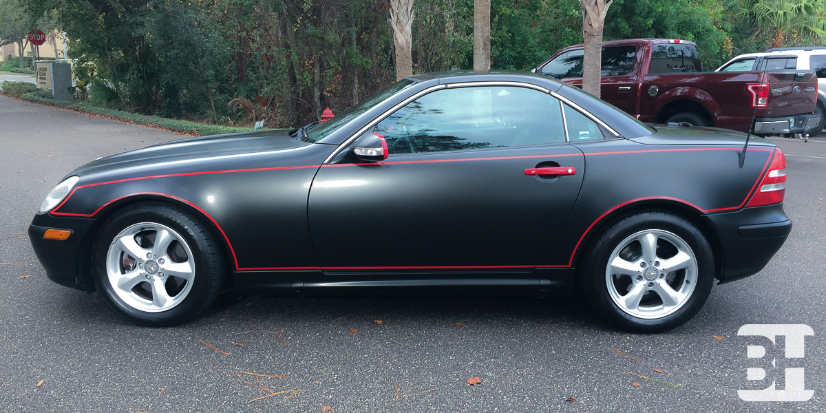 Daytona and Ormond beach color change wrap on a mercedes