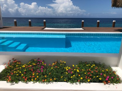 Private pool oceanfront