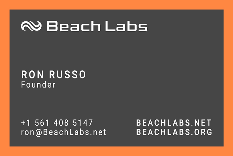 BeachLabs.net Business Card - Front