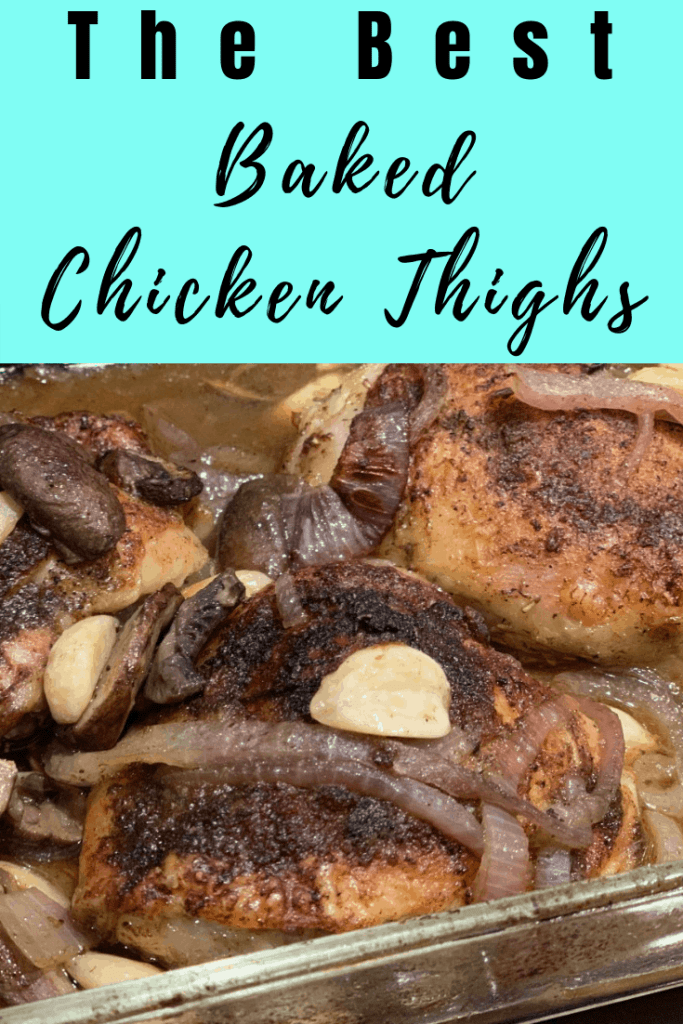 Crispy Baked Chicken Thighs - One Pan Baked Chicken Thighs