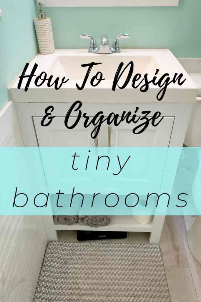 How to design and organize a small bathroom pin