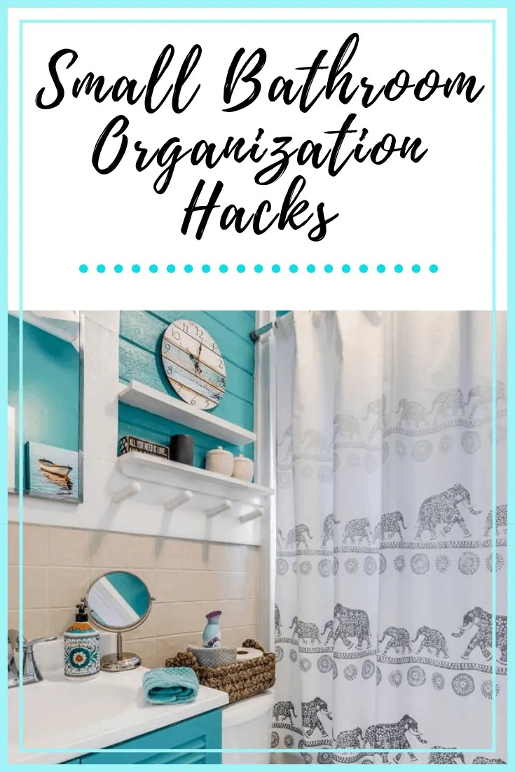 Small Bathroom Organization Hacks - Ideas for organizing your small bathroom