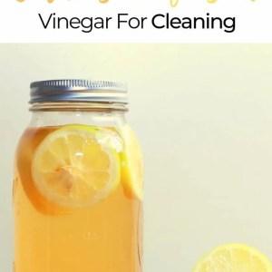 How To Make Your Own Citrus Infused Vinegar For Cleaning - DIY Lemon Orange Cleaning Vinegar