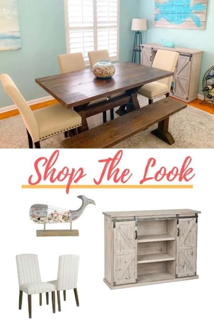 Beachy Blue Dining Room Shop The Look