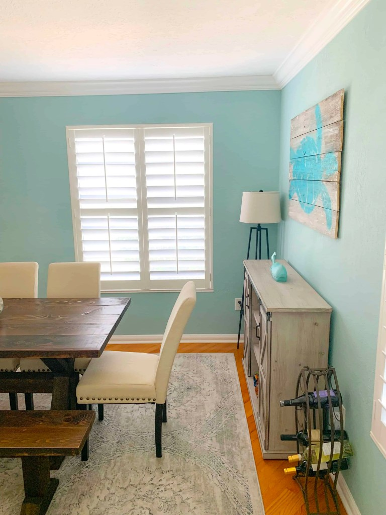 How To Create A Beach Style Dining Room - Coastal Blues Dining Room
