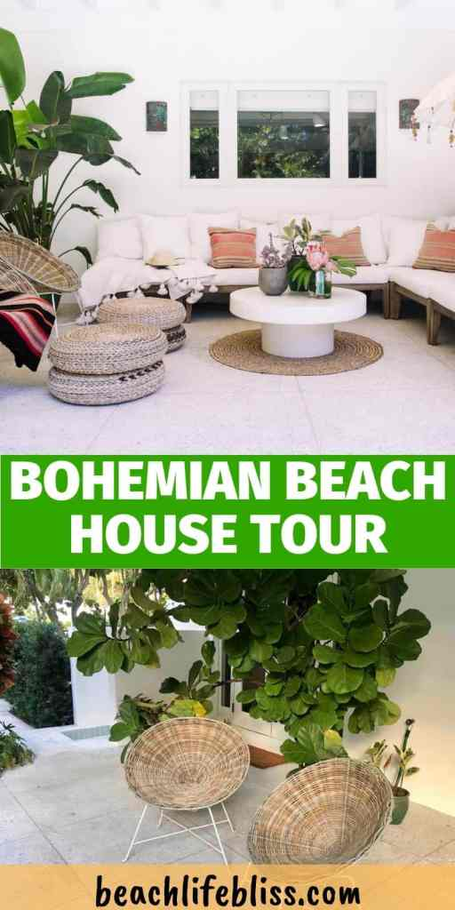 Bohemian Elegant Luxury Paradise AirBnb Beach House Decor