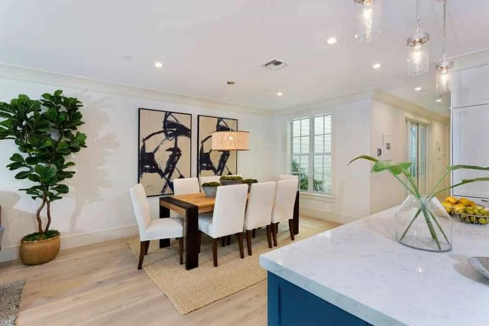 Island Contemporary - Beach House Tour - Beach House Coastal Decor Ideas - Air Bnb in Delray Beach Florida - Dining