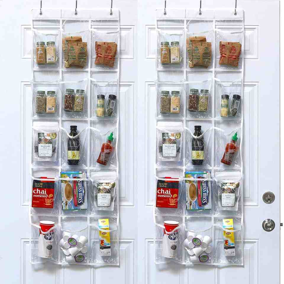 Organize Your Small Pantry For Cheap - Over The Door Storage
