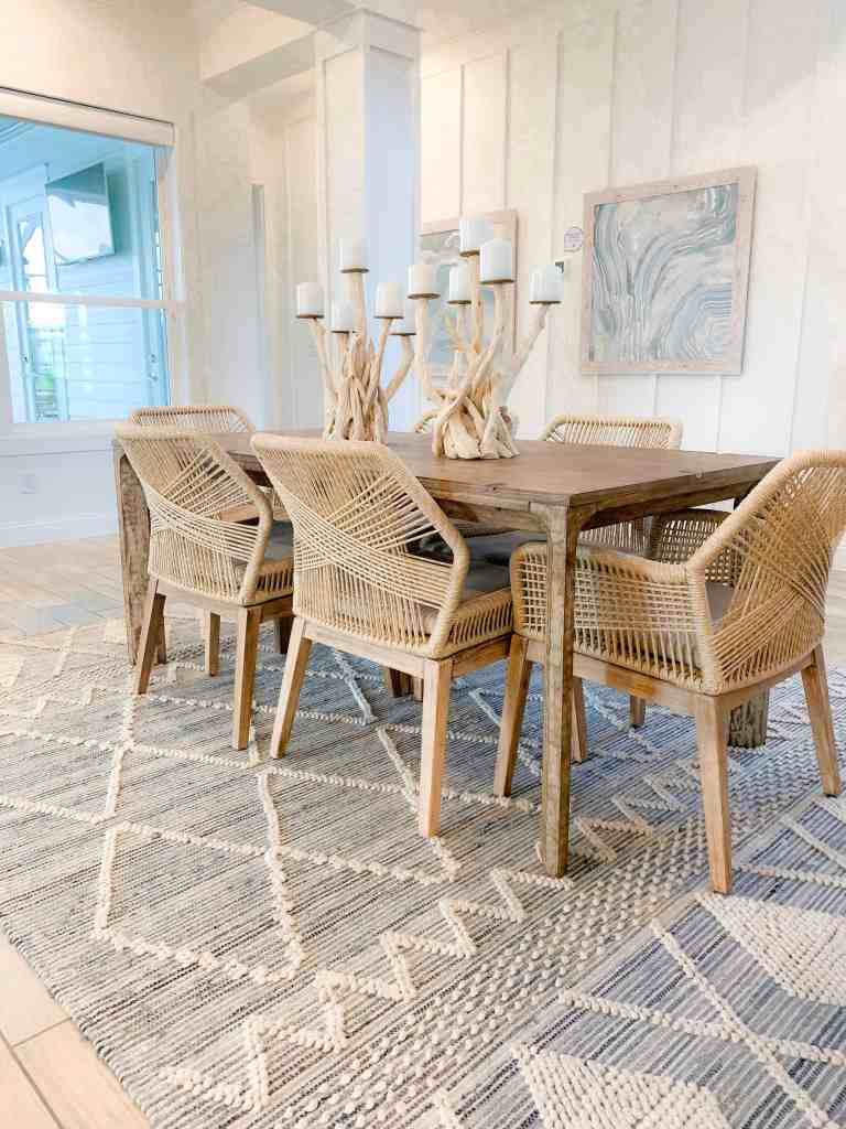 Beach Walk House Tour - Coastal Chic Design and Decor Ideas - Dining Area