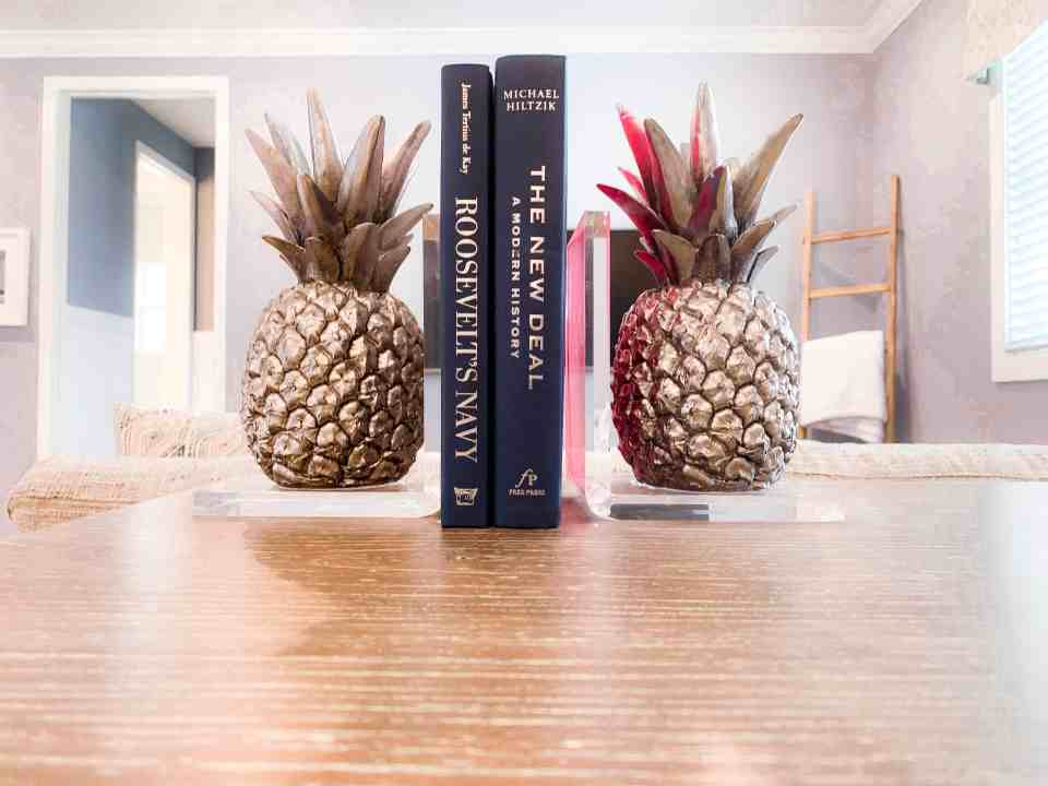 Beach Walk House Tour - Coastal Chic Design and Decor Ideas - Pineapple desk decor