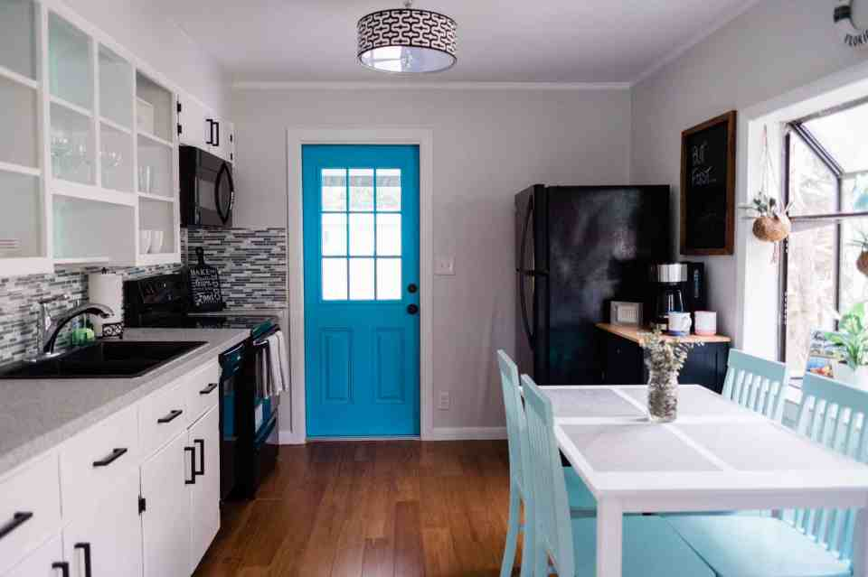 Beach Life Bungalow Kitchen After Photo - Coastal Vibrant Transformation