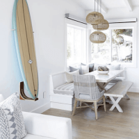 Upscale Coastal Bungalow Surf Style Beach House