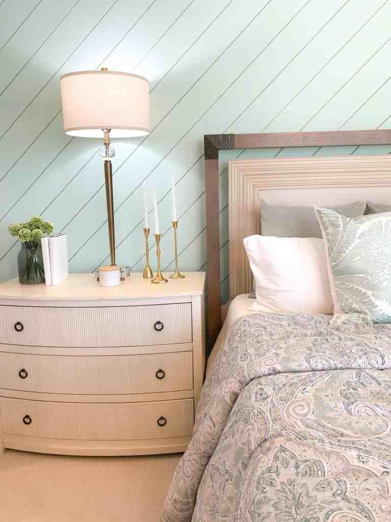 Seafoam and neutral decor  - Seafoam Green Airy Bedroom Design
