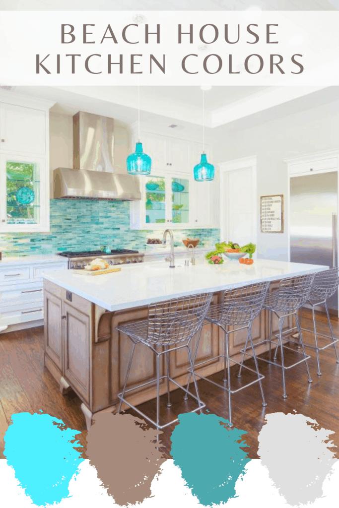 Beach House Kitchen Colors - Turquoise Color Pallet Ideas