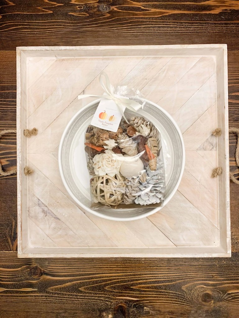 Potpourri Pack of Acorns and Pine Cone - Filled Bowl For Neutral Thanksgiving Centerpiece