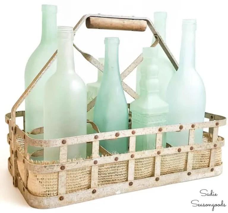 DIY Sea Glass Vase Bottles - DIY Home Decor For Your Beach House - Less than $5.00
