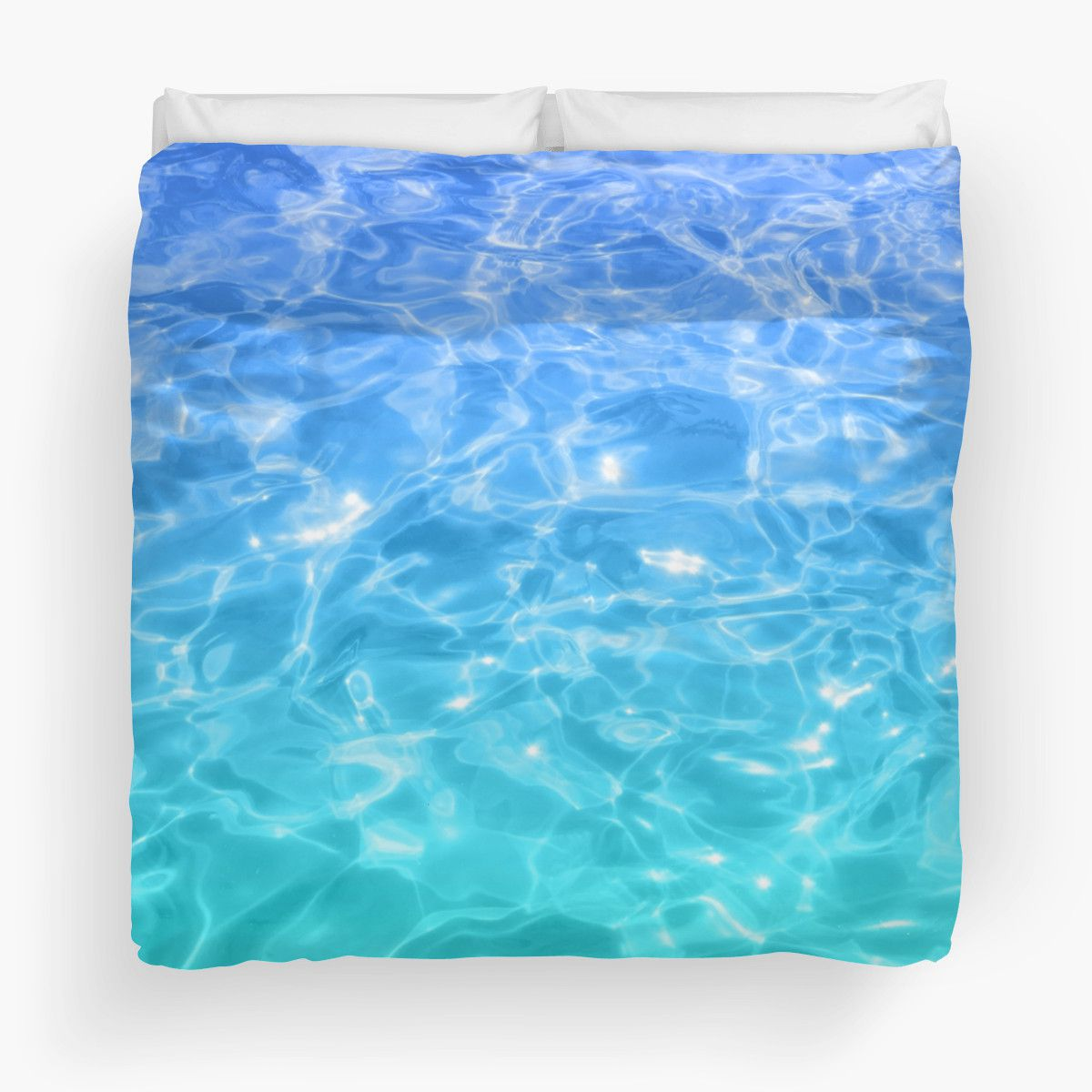 Blue  Teal Pool Water Duvet Cover  Beachlovedecorcom