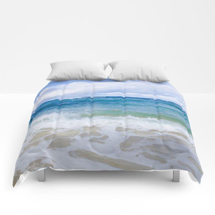 Ocean water comforter sea bedding beach coastal style
