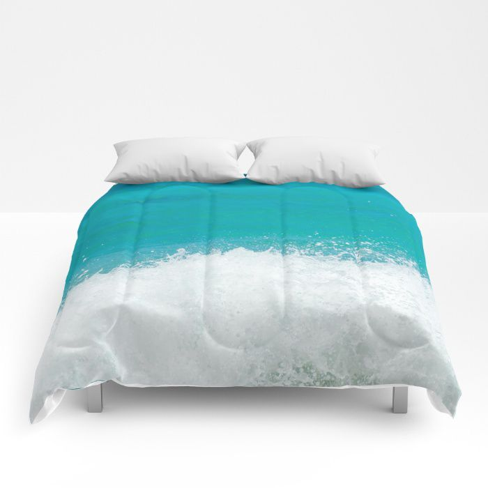 Sea wave comforter ocean sea bedding beach coastal