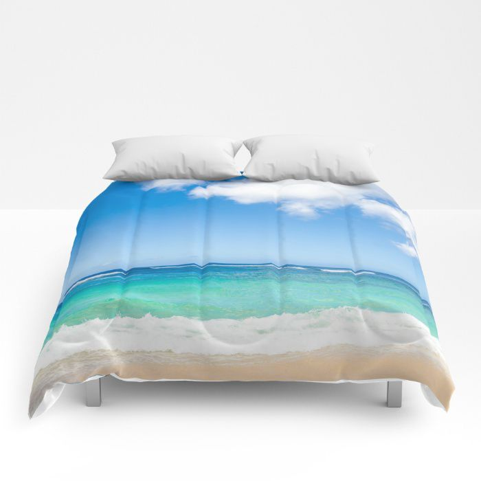 Hawaiian sky comforter ocean sea bedding beach coastal style full king queen sizes