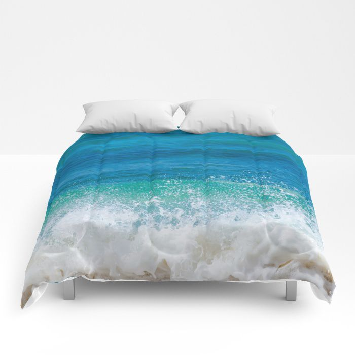 Hawaiian wave comforter ocean sea bedding beach