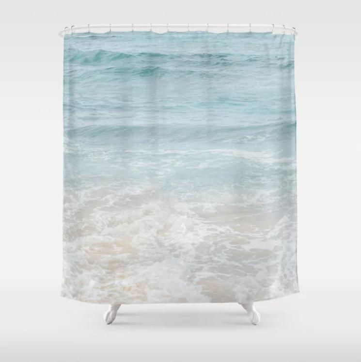 coastal shower curtain 11 ocean bathroom decor tropical coastal scandinavian style 71x74 inches