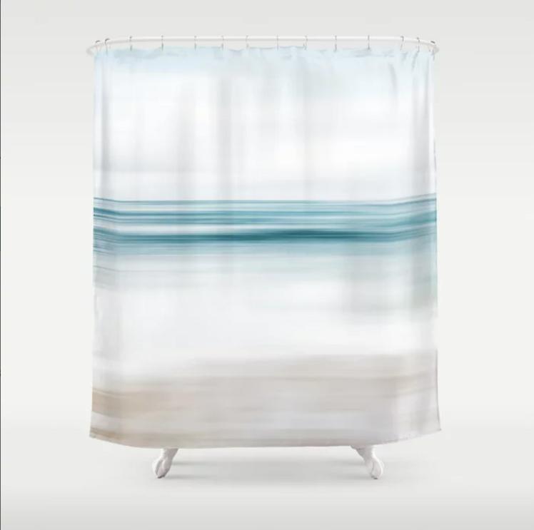 abstract coastal shower curtain 2 ocean bathroom decor tropical coastal 71x74 inches