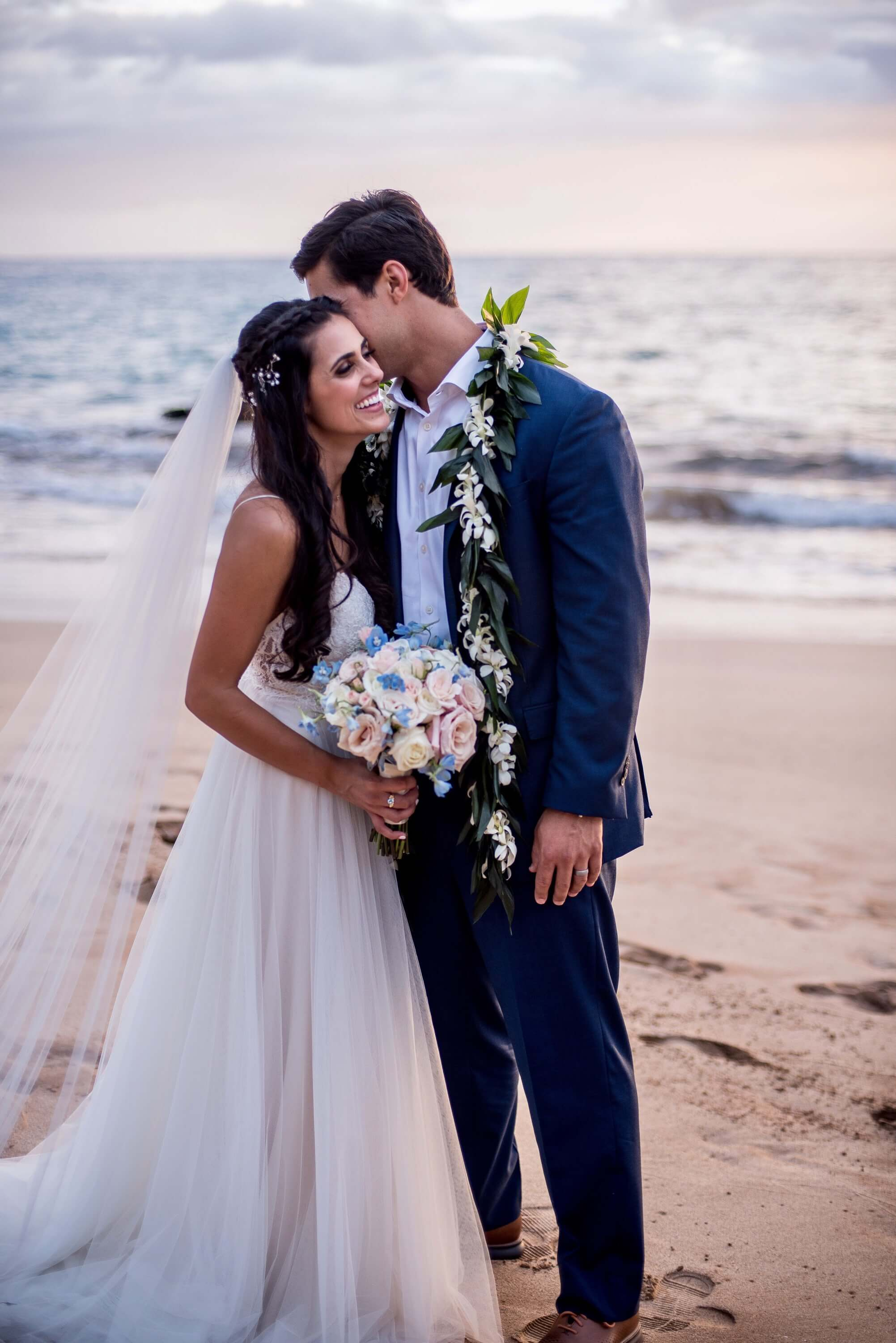 Aloha Maui Beach Weddings - Mr. and Mrs. Mohamad getting alone time on the beach Couple 2018