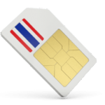 Thai Sim Card showing the flag of Thailand