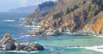 The rugged Big Sur Coastline along California's Highway One.