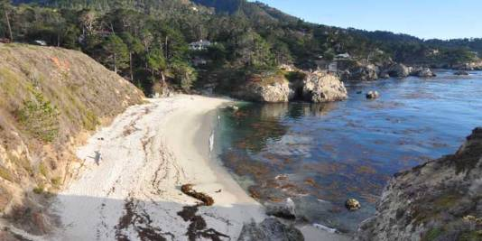 Overview of Gibson Beach at Big Sur on the West Coast of California