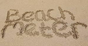 Beachmeter written in the sand