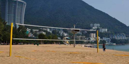 Beach Volleyball Court at Repulse Bay, Hong Kong