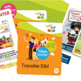 Thai Mobile Phone Companies with Thai tourist sim cards (AIS, DTAC, and TRUEmove)