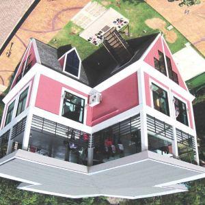 Baan Teelanka Upside Down House in Phuket viewed from above (or below)