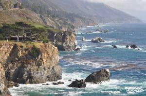 The stunning Californian Coastline seen from Ragged Point
