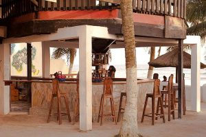 Oasis Beach Bar in Ghana