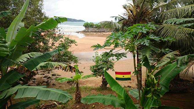 Scorpion Lodge Busua Ghana sea view