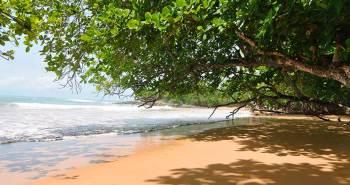 Pristine beach in Ghana