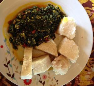 Palava sauce Ghanaian food
