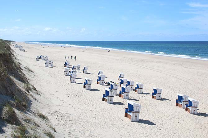 Sylt beach chairs Germany