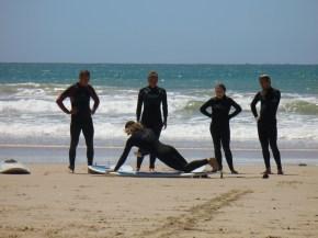 Beach Music, Jeffreys Bay, Surf lesson